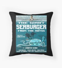 The giant seaburger from the abyss Throw Pillow