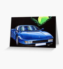Tester Rossie in blue. Greeting Card