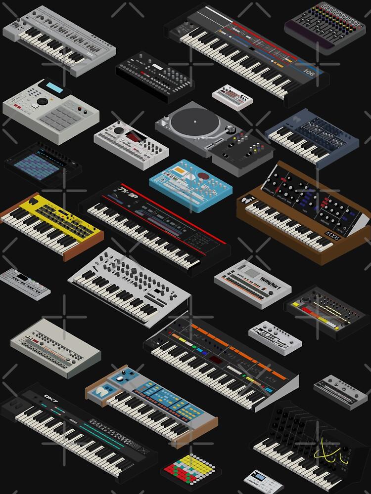 Synthesizer Fan Collection by mewzeek-T