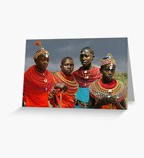 SAMBURU GIRLS - KENYA Greeting Card