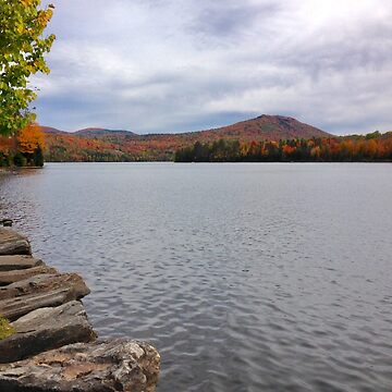 Autumnal Lake in Vermont, USA by gingerdelight