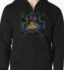 Chrono Camping Pixels Zipped Hoodie