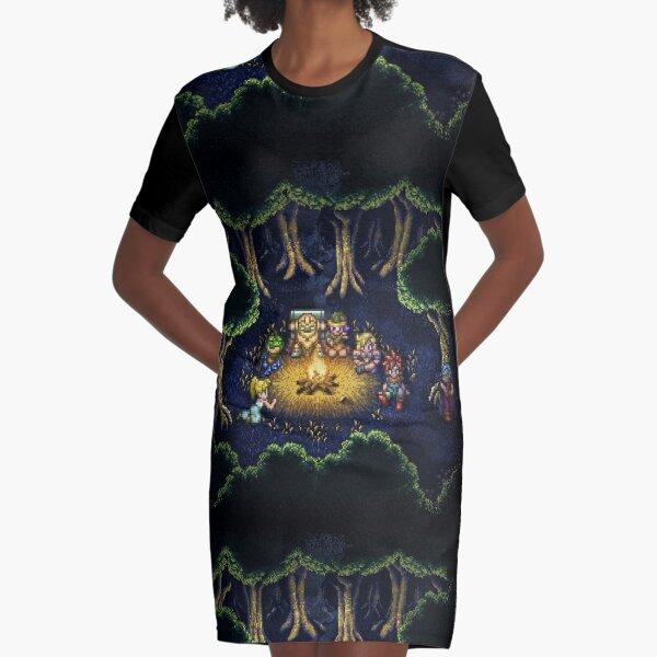 Chrono Camping Pixels Graphic T-Shirt Dress
