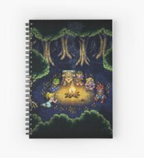 Chrono Camping Pixels Spiral Notebook