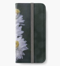Macro photo of a white flower iPhone Wallet/Case/Skin