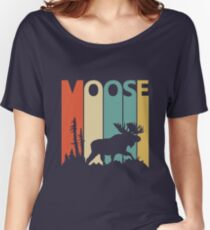 Vintage Retro Moose Women's Relaxed Fit T-Shirt