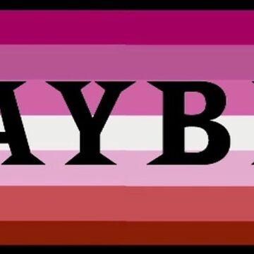 lesbian flag playbill sticker by jayymarie