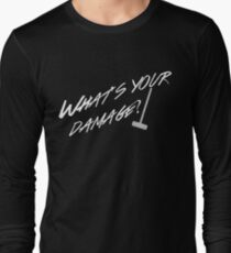 What's Your Damage-White Long Sleeve T-Shirt