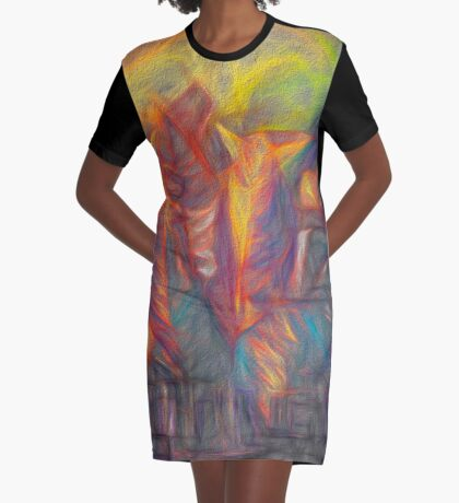 Sunset in Leaves  Graphic T-Shirt Dress
