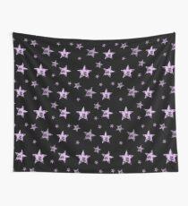 Pastel leopard print stars Wall Tapestry