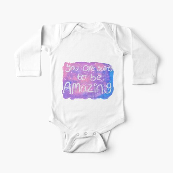 Amazing in pink Long Sleeve Baby One-Piece