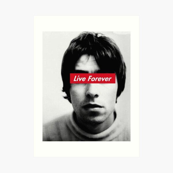 Oasis Live forever Art Print