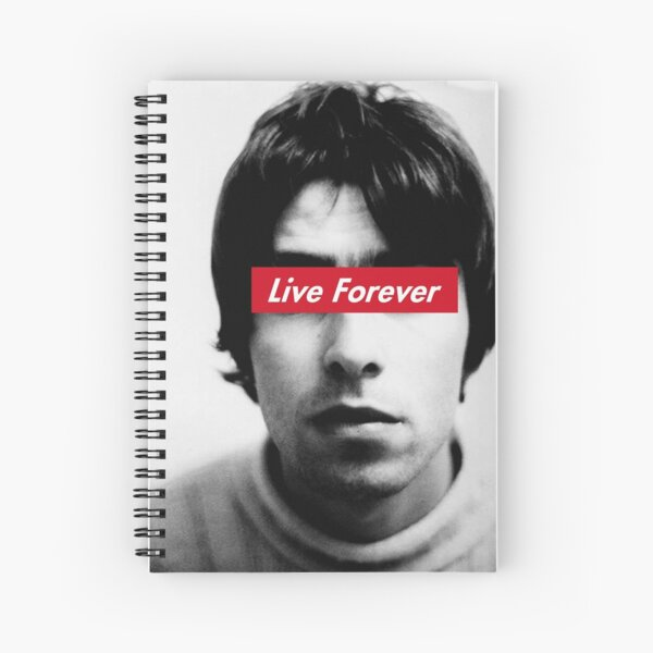 Oasis Live forever Spiral Notebook