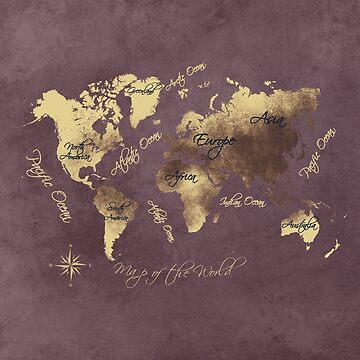 world map 149 rose yellow #worldmap #map by JBJart