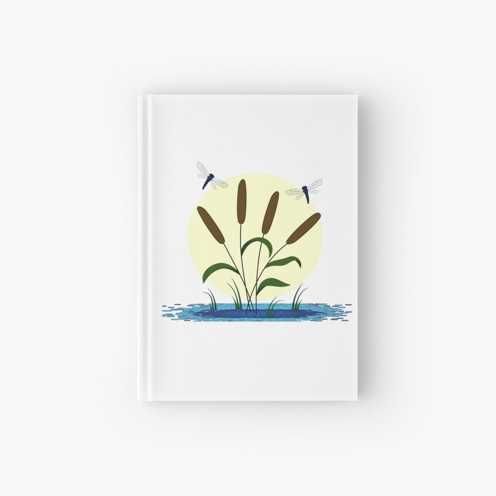 Cattails and Dragonflies Hardcover Journal