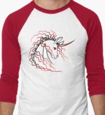 Ki-Rin (Japanese Unicorn) - Red Men's Baseball ¾ T-Shirt