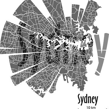 Sydney map by UrbanizedShirts