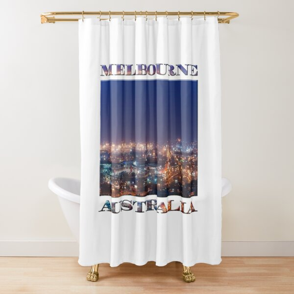 Any Port in a Storm (poster on white) Shower Curtain