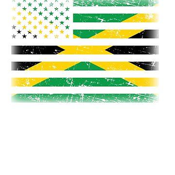 Jamaican American Flag by dmanalili