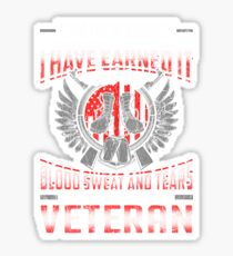 Veteran Title I have Earned It Sticker