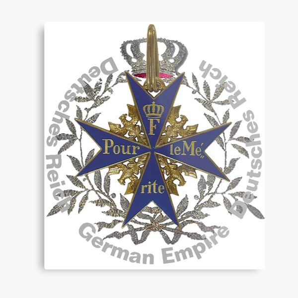 German Empire..Pour le Merite Metal Print