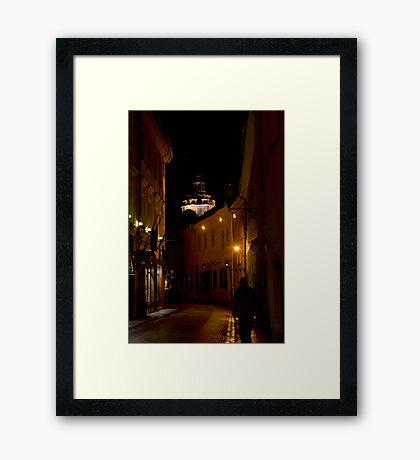 Ghost at night street (My city) Framed Print