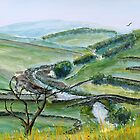 Smardale Bridge over Scandal Beck - Yorkshire Dales - Watercolour by Paul Gilbert
