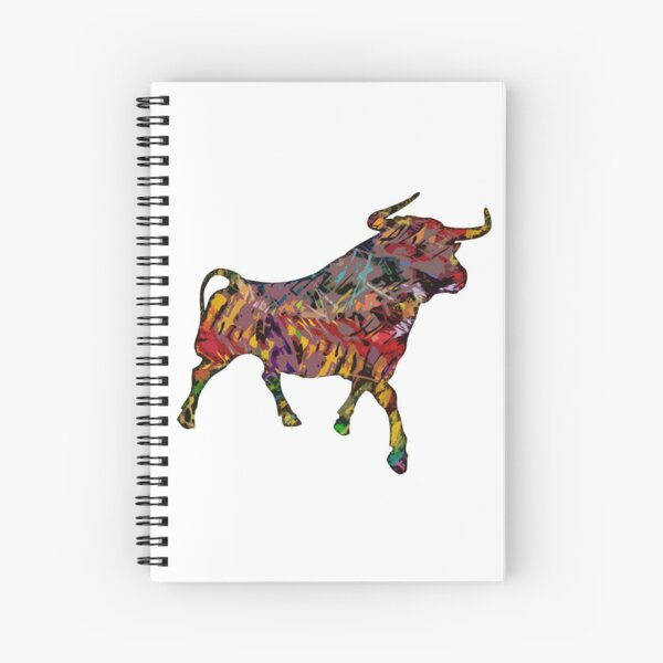 The Painted Bull Spiral Notebook