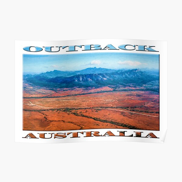Wilpena Pound  (digital painting) Poster
