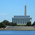 Across the River From the Lincoln Memorial and the Washington Monument by Cora Wandel