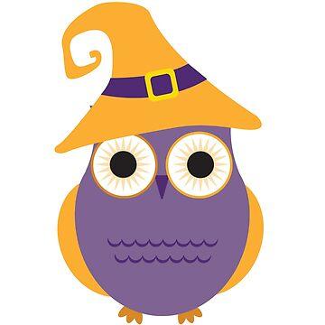 Purple Halloween Owl by EarthlyIndigo