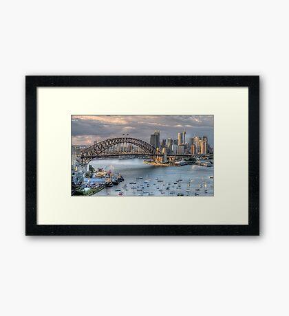 Sydney Fantasia - Moods Of ACity - The HDR Experience Framed Print