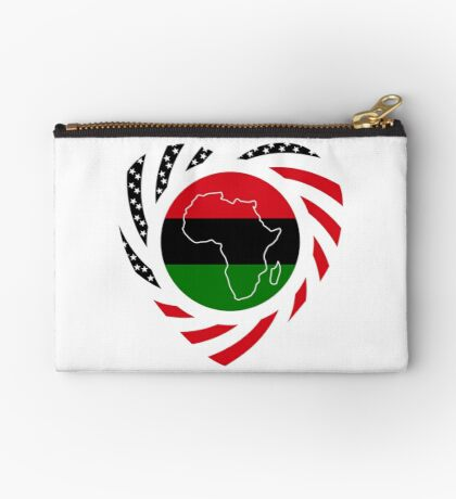 Black Murican Patriot Flag Series 2.0 Zipper Pouch