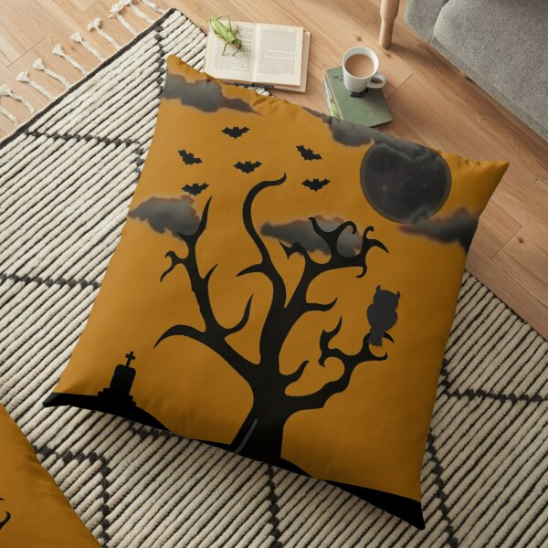 Halloween Scene Floor Pillow