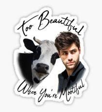 Too Mootiful Sticker