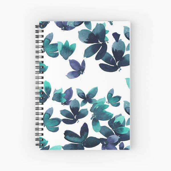 Born to Butterfly - Teal and Navy Palette Spiral Notebook