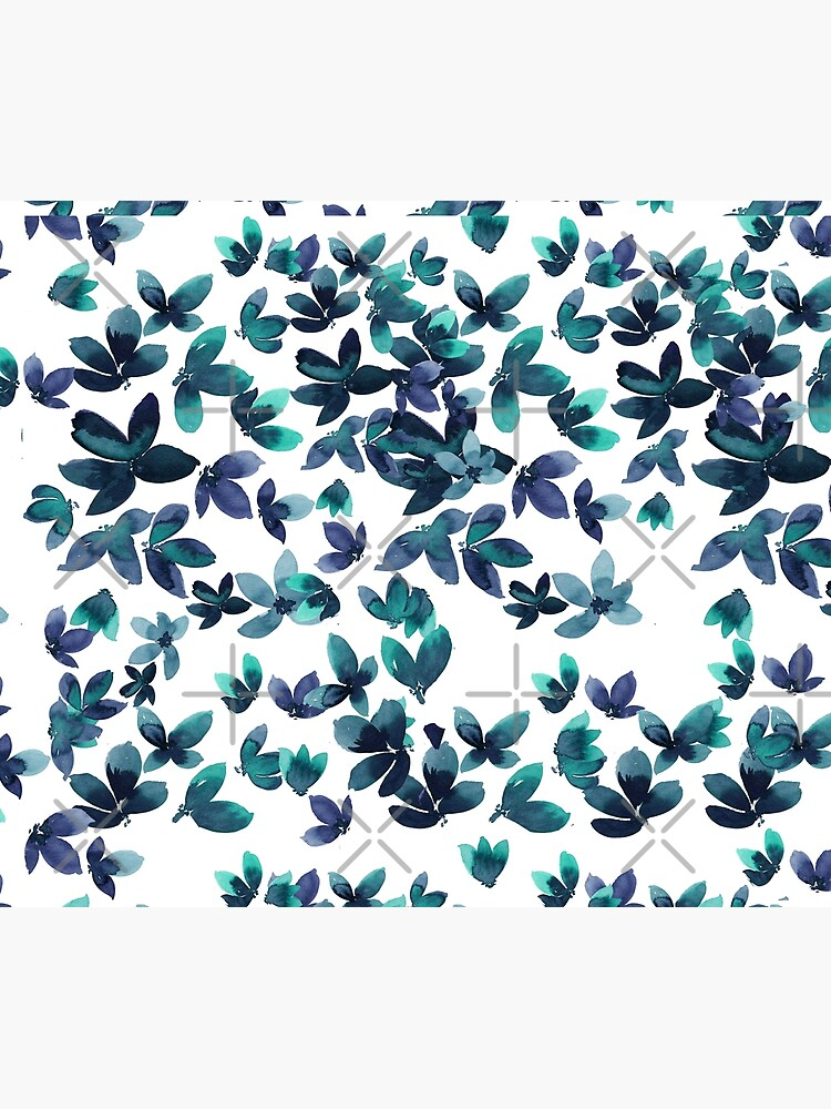 Born to Butterfly - Teal and Navy Palette by rosemaryann