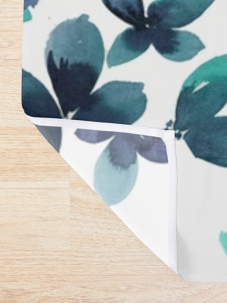 Alternate view of Born to Butterfly - Teal and Navy Palette Shower Curtain