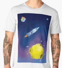 Captain Dad (background) Men's Premium T-Shirt