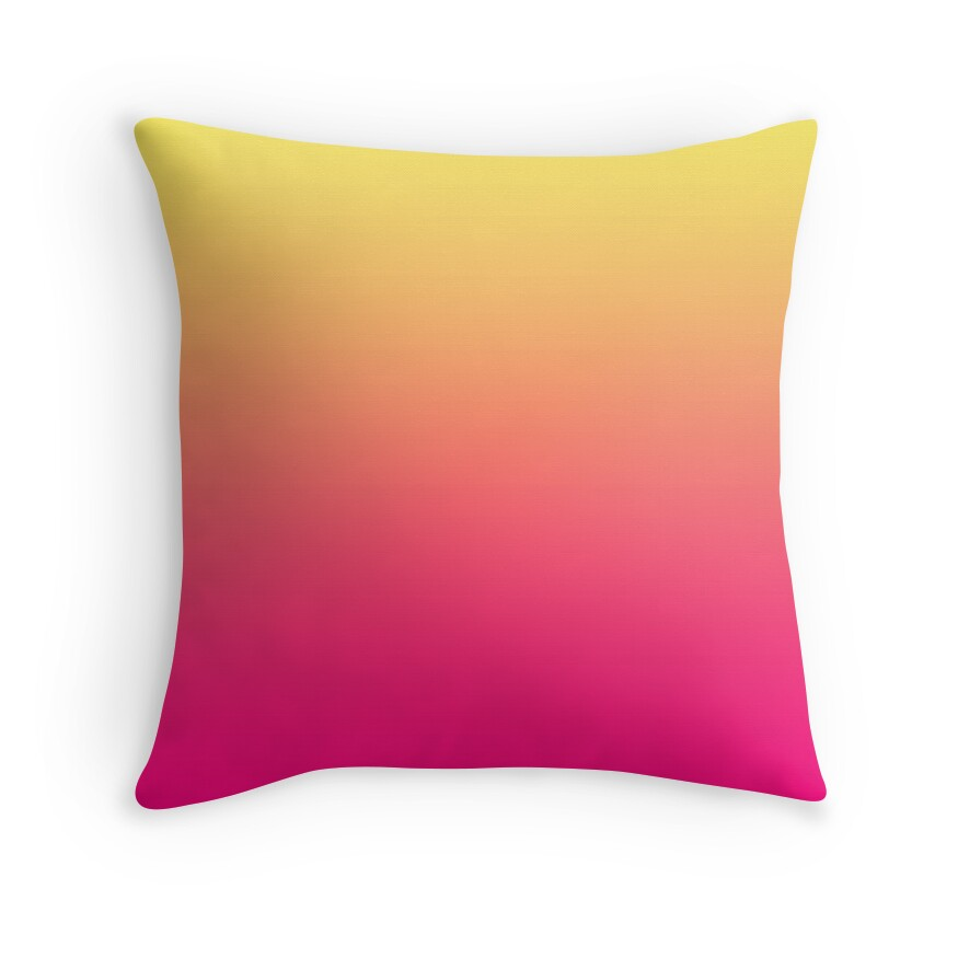 Quot Beautiful Cushions Gradient Pink Corn Quot Throw Pillows By