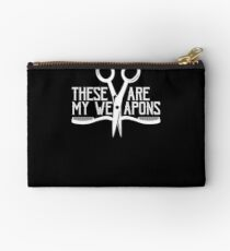 Hair Dresser Barber Scissors Are My Weapons Hairstylist Studio Pouch