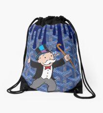 Monopoly Blue Drawstring Bag