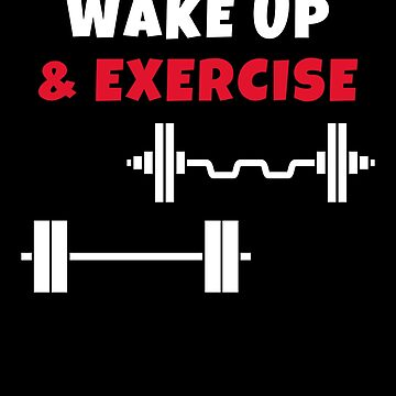 Wake up and exercise Barbells by we1000