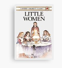 Little Women Louisa May Alcott First Edition Book Cover Canvas Print