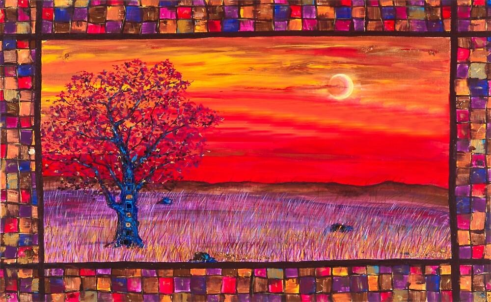 Tree & the Moon by Angela Ferrari by ByFerrari