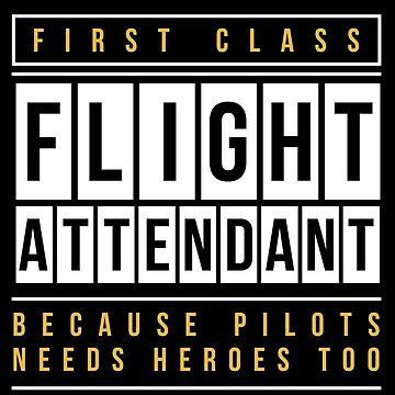 Flight attendant heroine by GeschenkIdee