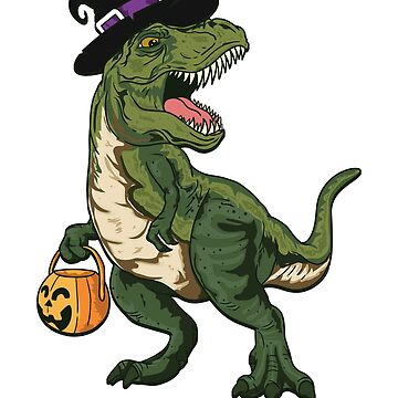 Trick Rawr Treat Halloween T Rex Dinosaur by CreativeFit