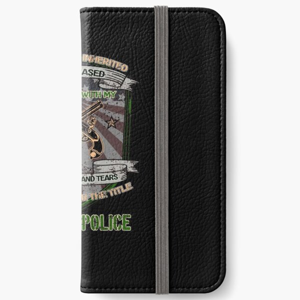 I forever own the title military police - distressed iPhone Wallet
