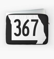 Missouri Route 367 | United States Highway Shield Sign Sticker Laptop Sleeve