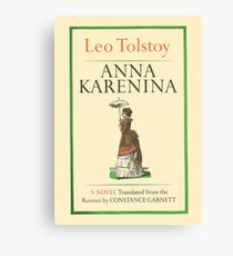 Anna Karenina Leo Tolstoy Front Cover Canvas Print